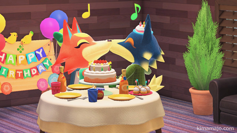 ロボとモニカ 誕生日会